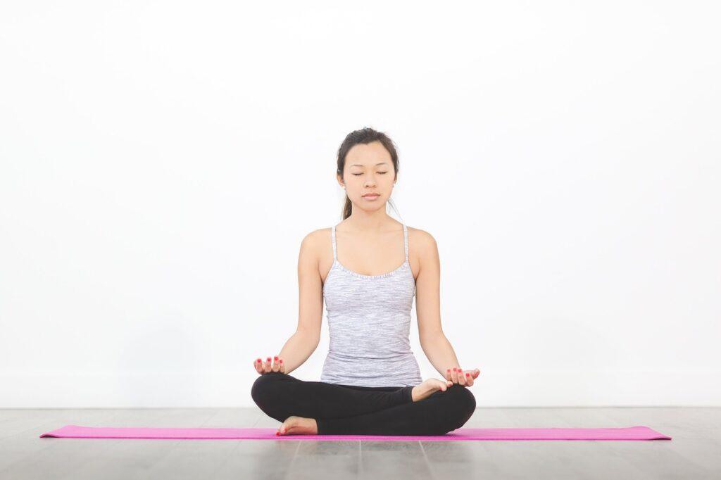 people, woman, yoga